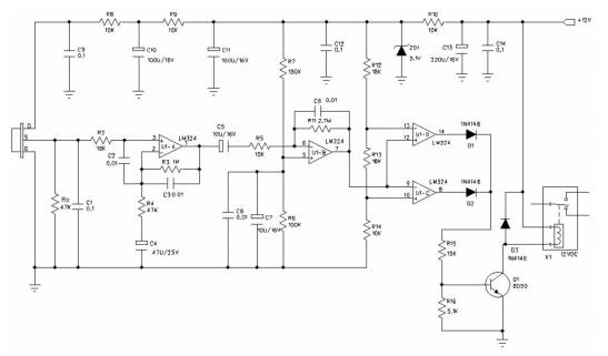 热释电红外传感器d203s 芯片op-07c组成探测电路