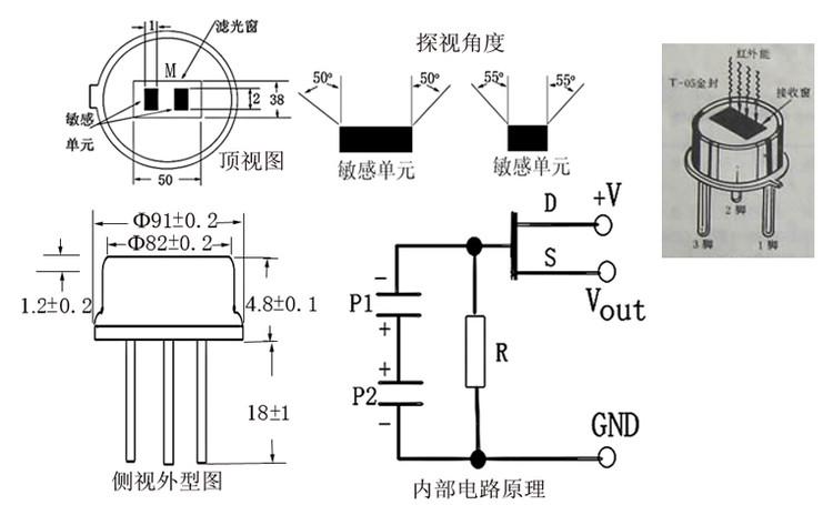 热释电红外感应器是一种能检测人或动物发射的红外线而输出电信号的传感器。早在1938年,有人提出过利用热释电效应探测红外辐射,但并未受到重视,直到六十年代,随着激光、红外技术的迅速发展,才又推动了对热释电效应的研究和对热释电晶体的应用。热释电晶体已广泛用于红外光谱仪、红外遥感以及热辐射探测器,它可以作为红外激光的一种较理想的探测器。它目标正在被广泛的应用到各种自动化控制装置中。除了在我们熟知的楼道自动开关、防盗报警上得到应用外,在更多的领域应用前景看好。比如:在房间无人时会自动停机的空调机、饮水机。电视机能